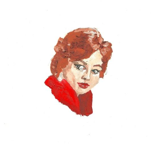 """Juliet Prowse"" - Oil on paper"