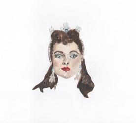 """Debra Paget"" - Oil on paper"