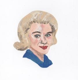 """""""Hope Lange"""" - Oil on paper"""