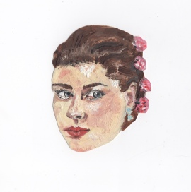 """""""Dolores Hart"""" - Oil on paper"""