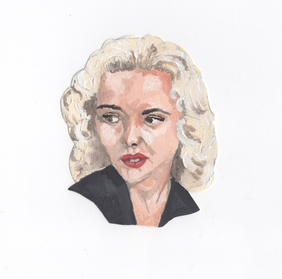 """""""Tuesday Weld"""" - Oil on paper"""
