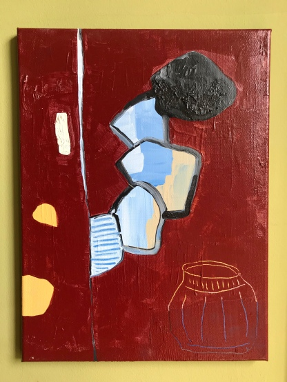 """""""Baby Let's Play House"""" - Acrylic and oil on canvas - 40x30cm"""